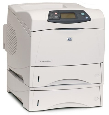 The HP LaserJet 4250 increases workgroup productivity with fast print speeds up to 45 ppm and less than 8 seconds for the first page out. Get the capabilities you need with a host of versatile optional features, including high-capacity paper trays, stapling and stacking accessories, as well as third-party solutions through Compact Flash support. The HP LaserJet 4250 printer series grows with your business. Service Business Equipment can service, rent or repair this printer and many other copiers, copy machines, printers and scanners